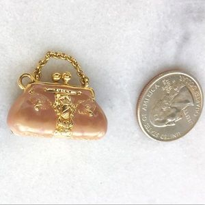 Juicy Couture Dusty Pink Kiss Lock Purse Charm